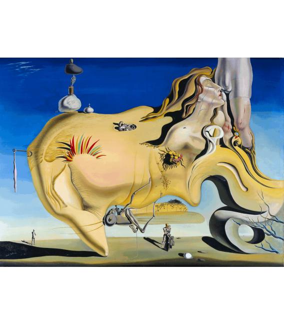 Stampa su tela: Salvador Dalí - The Great Masturbador