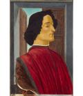 Sandro Botticelli - Giuliano de' Medici. Stampa su tela