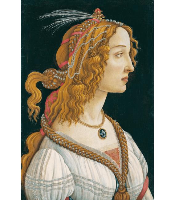 Printing on canvas: Sandro Botticelli - Idealized Portrait of a Lady (Portrait of Simonetta Vespucci as Nymph)