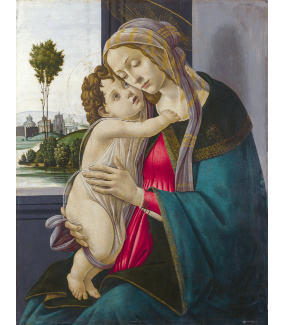 Printing on canvas: Sandro Botticelli - Madonna with child