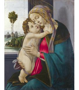 Stampa su tela: Sandro Botticelli - Madonna con bambino