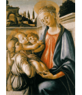 Sandro Botticelli - Madonna with Child and Two Angels. Printing on canvas
