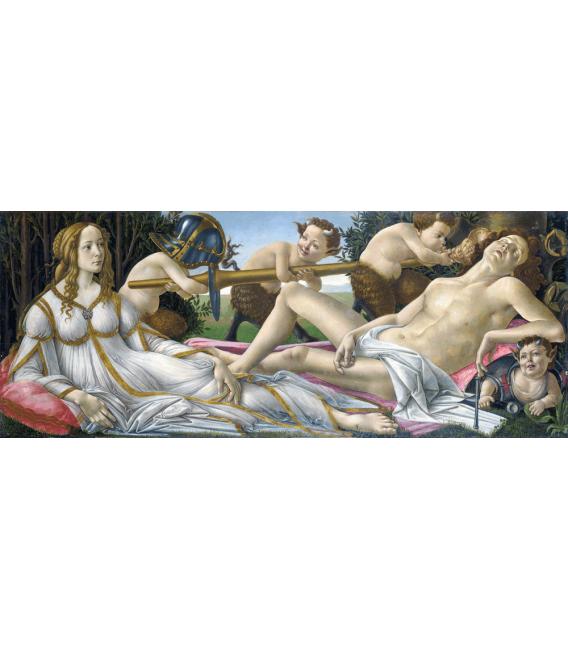 Stampa su tela: Sandro Botticelli - Venere e Marte