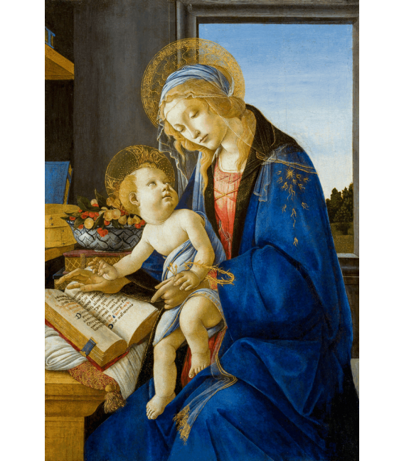 Printing on canvas: Sandro Botticelli - The Virgin and Child