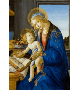 Sandro Botticelli - The Virgin and Child. Printing on canvas