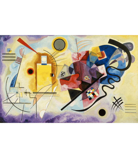 Stampa su tela: Vassily Kandinsky - Giallo-rosso-blu