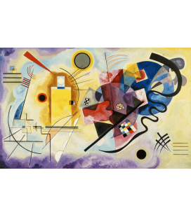 Vassily Kandinsky - Yellow-Red-Blue. Printing on canvas
