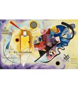 Vassily Kandinsky - Giallo, rosso, blu. Stampa su tela
