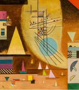 Vassily Kandinsky - The Silence Silent. Printing on canvas
