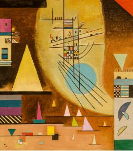 Vassily Kandinsky - Il Silenzio Silenzioso. Stampa su tela
