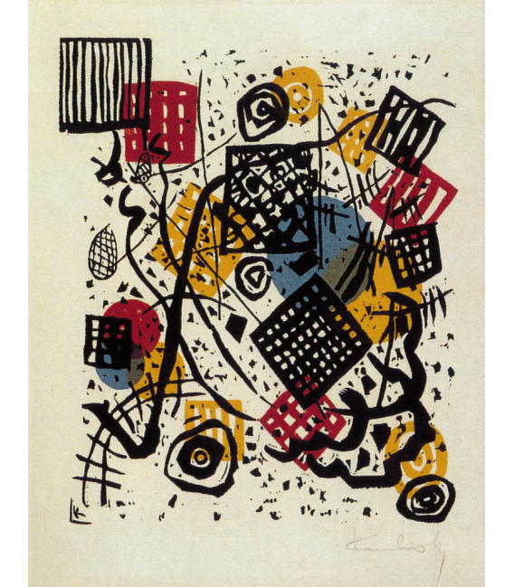 Printing on canvas: Vassily Kandinsky - Color lithograph on paper machine