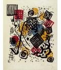 Vassily Kandinsky - Litografia a colori su carta a macchina. Stampa su tela