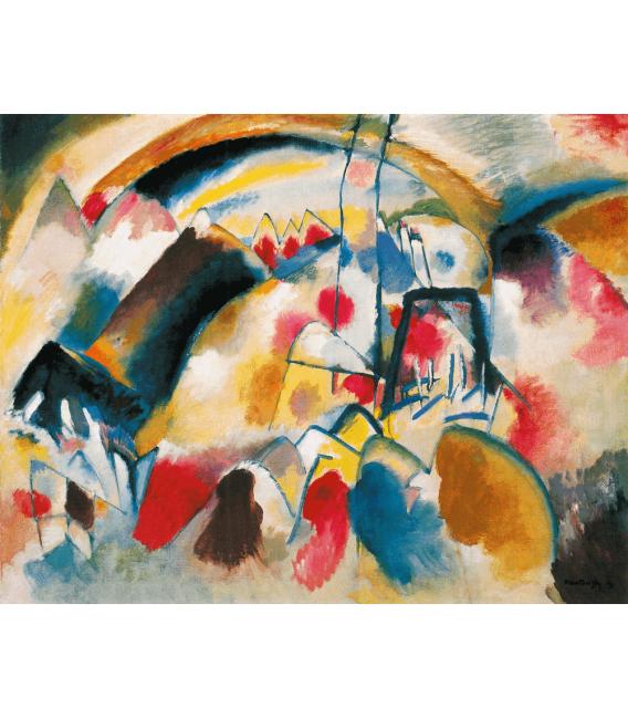 Printing on canvas: Vassily Kandinsky - Landscape with Church