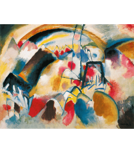 Vassily Kandinsky - Landscape with Church. Printing on canvas