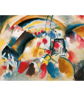 Vassily Kandinsky - Paesaggio con Chiesa. Stampa su tela