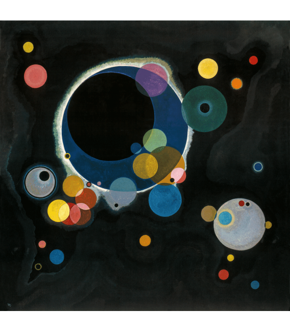 Printing on canvas: Vassily Kandinsky - Several Circles