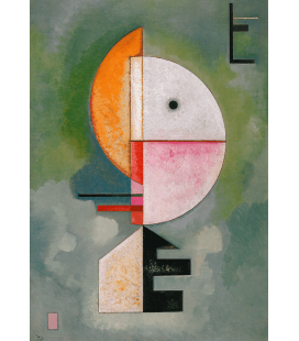 Vassily Kandinsky - Upwards. Printing on canvas