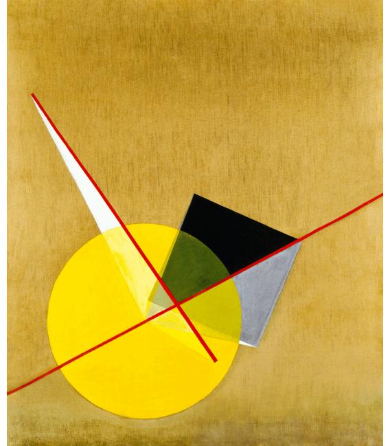 Stampa su tela: Vassily Kandinsky - Yellow Circle