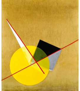 Vassily Kandinsky - Yellow Circle. Printing on canvas