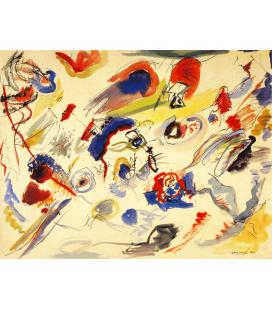 Vassily Kandinsky - Senza titolo. Stampa su tela