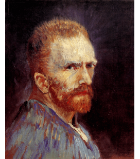 Stampa su tela: Vincent Van Gogh - Autoritratto 1887