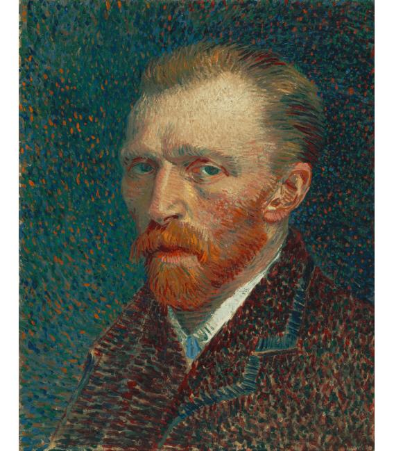Stampa su tela: Vincent Van Gogh - Autoritratto 1887 bis