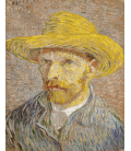 Vincent Van Gogh - Self Portrait 1887 with brown hat. Printing on canvas