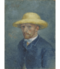 Vincent Van Gogh - Self-Portrait with Yellow Hat 1887. Printing on canvas