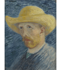 Vincent Van Gogh - Self-Portrait with Straw Hat. Printing on canvas