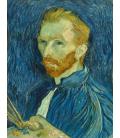 Vincent Van Gogh - Autoritratto 1889. Stampa su tela
