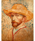 Vincent Van Gogh - Self-Portrait with Straw Hat 2. Printing on canvas