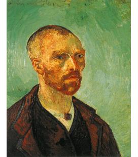 Stampa su tela: Vincent Van Gogh - Autoritratto con testa rasata