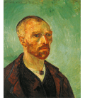 Vincent Van Gogh - Self Portrait with shaved head. Printing on canvas