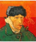 Vincent Van Gogh - Autoritratto, 1889. Stampa su tela