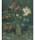 Vincent Van Gogh - Bottiglia con peonie. Stampa su tela