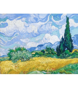 Printing on canvas: Vincent Van Gogh - Wheat Field with Cypresses