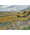 Vincent Van Gogh - Enclosed Field with Ploughman. Printing on canvas