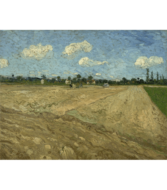 Printing on canvas: Vincent Van Gogh - Plowed fields (The furrows)