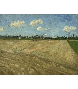Stampa su tela: Vincent Van Gogh - Campi arati (I solchi)
