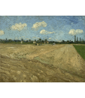 Vincent Van Gogh - Plowed fields (The furrows). Printing on canvas