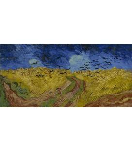 Stampa su tela: Vincent Van Gogh - Campo di grano con corvi