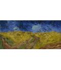 Vincent Van Gogh - Campo di grano con corvi. Stampa su tela