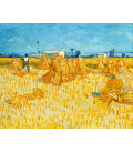 Vincent Van Gogh - Wheat Field with Reaper. Printing on canvas