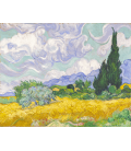 Vincent Van Gogh - Wheat Field with Cypresses. Printing on canvas