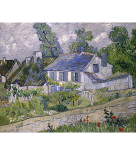 Stampa su tela: Vincent Van Gogh - Case ad Auvers
