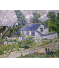 Printing on canvas: Vincent Van Gogh - Houses in Auvers