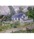 Vincent Van Gogh - Case ad Auvers. Stampa su tela