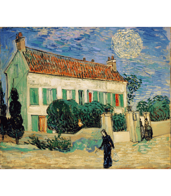 Printing on canvas: Vincent Van Gogh - White House at night