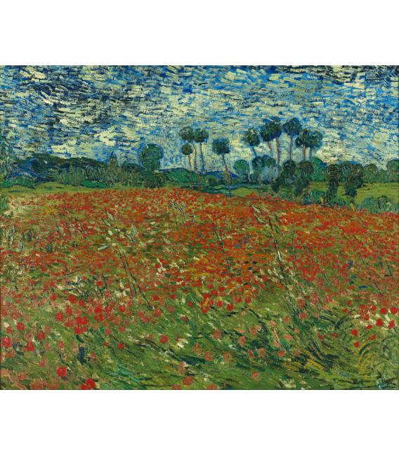 Stampa su tela: Vincent Van Gogh - Campo di papaveri