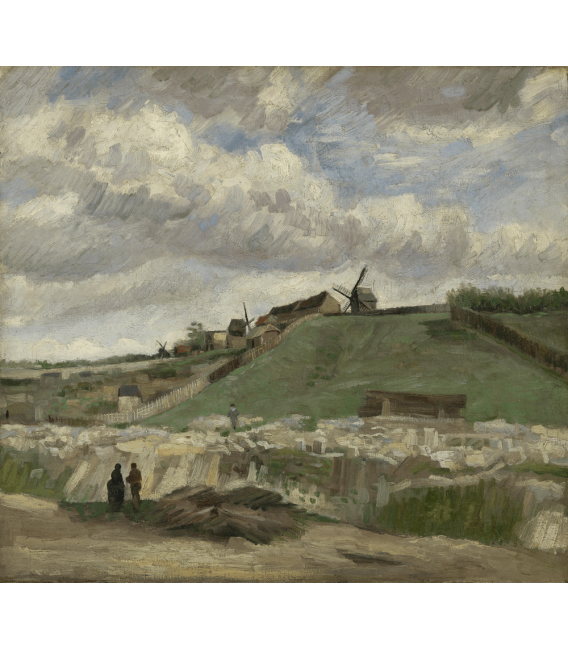 Printing on canvas: Vincent Van Gogh - Quarry of Montmartre with mills